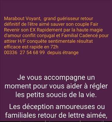 Photo Voyant n°507 dans le département 23 par Voyant marabout guérisseur 0627546899